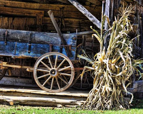 Still Life Poster featuring the photograph October Barn by Jan Amiss Photography