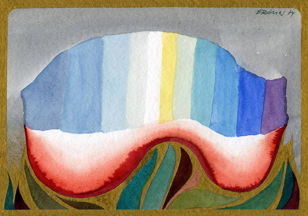 Watercolor Poster featuring the painting Ode To The Light by Horst Braun