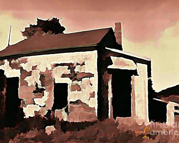 House Poster featuring the digital art Old Abandoned House In Cape Breton by John Malone