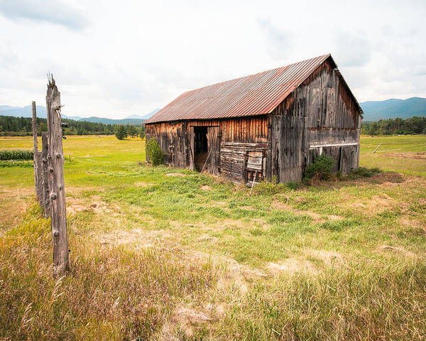 Old Barn Poster featuring the photograph Old Barn On Highway 86 - Rustic Barn by Gary Heller