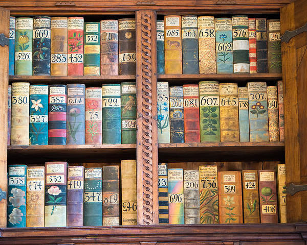 Books Poster featuring the photograph Old Books In Prague by Matthias Hauser