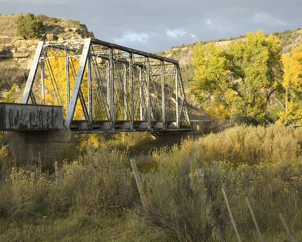 Cottonwood Poster featuring the photograph Old Bridge At La Boca by Jerry McElroy