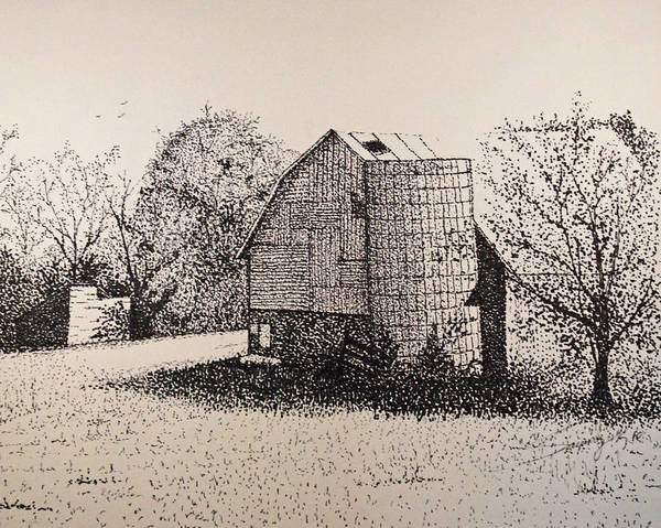 Landscape Poster featuring the drawing Old But Beautifull by Saundra Smoker