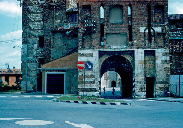 Vicenza Poster featuring the photograph Old City Gate Vicenza 1962 by Cumberland Warden