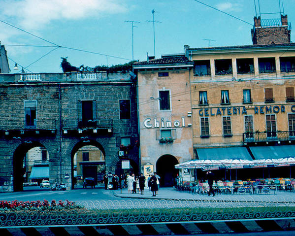 Vicenza Poster featuring the photograph Old City Gate Vicenza 2 1962 by Cumberland Warden