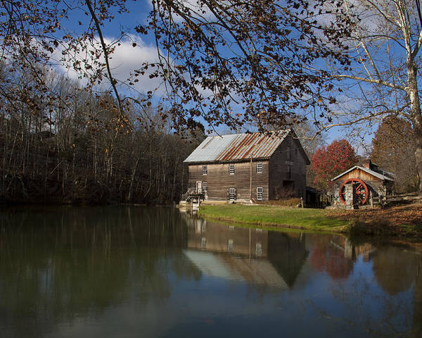 Grist Mill Poster featuring the photograph Old Creek Mill by Regina Williams