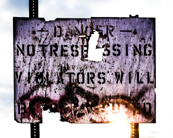 Danger Poster featuring the photograph Old Danger by Bob Orsillo