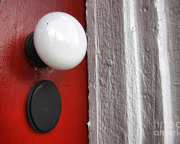 Doorknob Poster featuring the photograph Old Doorknob by Olivier Le Queinec