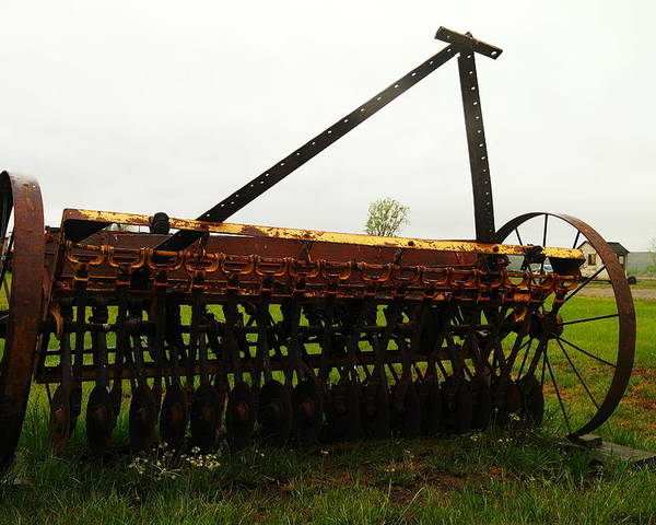 Antiques Poster featuring the photograph Old Farm Equipment by Jeff Swan