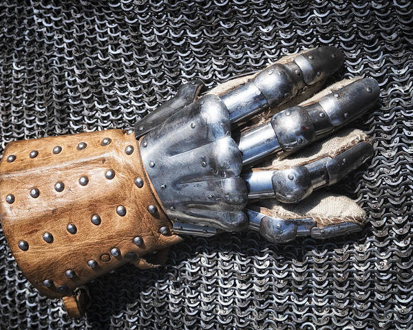 Glove Poster featuring the photograph Old Glove Of A Medieval Knight by Matthias Hauser