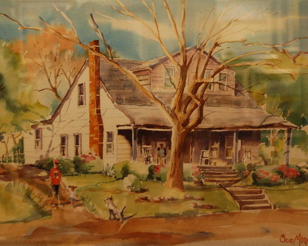 Old Home Place Poster featuring the painting Old Home by Lynn Beazley Blair