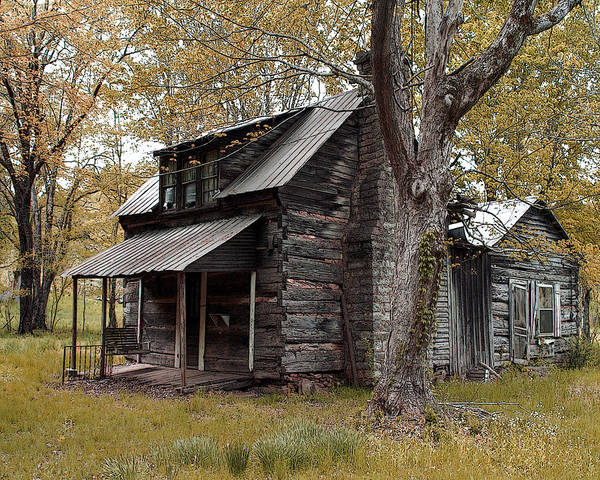 Cabin Poster featuring the photograph Old Home Place by TnBackroadsPhotos