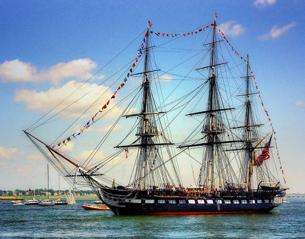 Uss Constitution Poster featuring the photograph Old Ironsides 1014 by Jeff Stallard