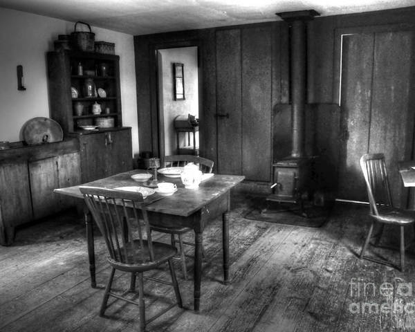 #old #kitchen Poster featuring the photograph Old Kitchen by Kathleen Struckle