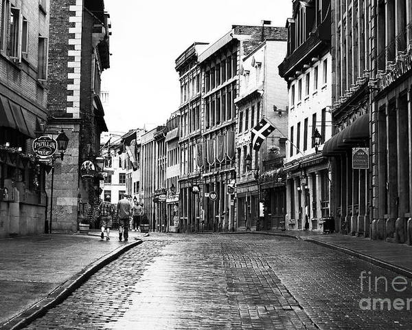 Old Montreal Streets Poster featuring the photograph Old Montreal Streets by John Rizzuto