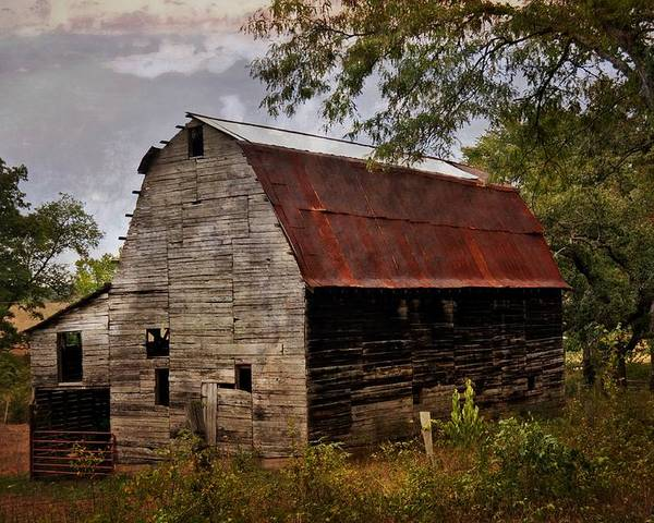 Barn Poster featuring the photograph Old Oak Barn by Marty Koch