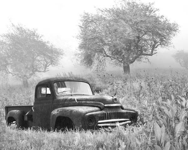 120 Poster featuring the photograph Old Pick Up Truck by Debra and Dave Vanderlaan