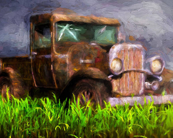 Truck Poster featuring the painting Old Pickup by Bob Orsillo