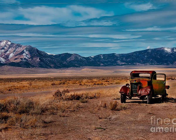Transportation Poster featuring the photograph Old Pickup by Robert Bales