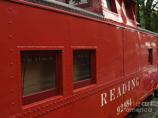 Caboose Poster featuring the photograph Old Reading Rr Caboose In Lititz Pa by Anna Lisa Yoder