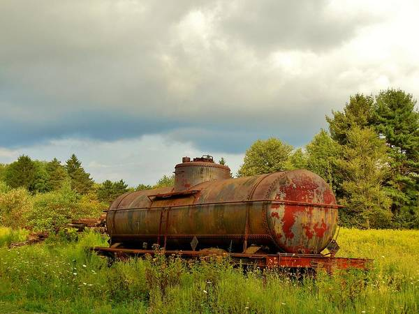 Tanker Car Poster featuring the photograph Old Rusty Tanker by Anthony Thomas