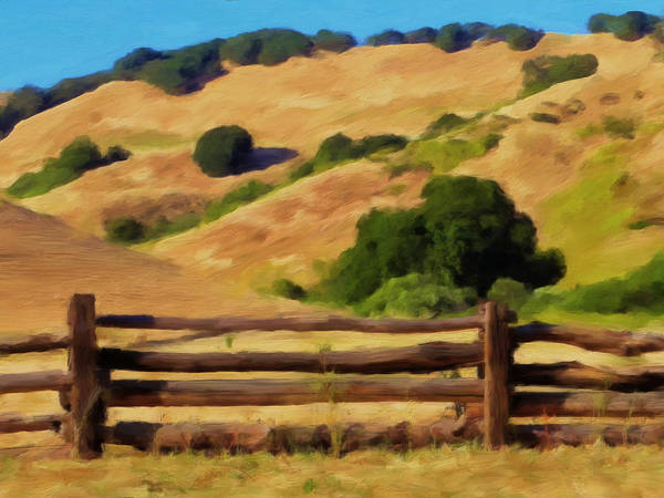 Split Rail Fence Poster featuring the painting Old Split Rail Fence by Michael Pickett