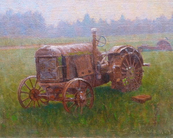 Landscape Poster featuring the painting Old Timer Canterbury by Terry Perham
