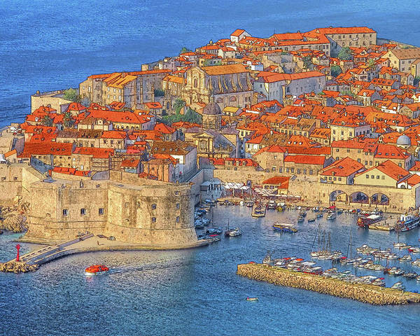 Dubrovnik Poster featuring the photograph Old Town Dubrovnik by Douglas J Fisher