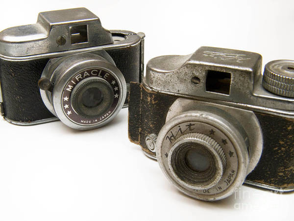Antique Poster featuring the photograph Old Toy Cameras by Amy Cicconi