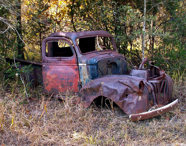 Truck Poster featuring the photograph Old Truck - Purtis Creek by Allen Sheffield