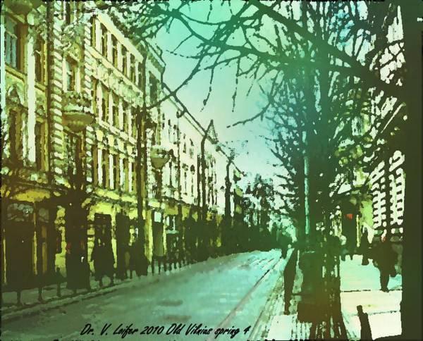 Spring Poster featuring the digital art Old Vilnius spring 4 by Dr Loifer Vladimir