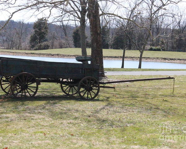 Bucks County Landscape Poster featuring the photograph Old Wagon by Sharon Wilkens