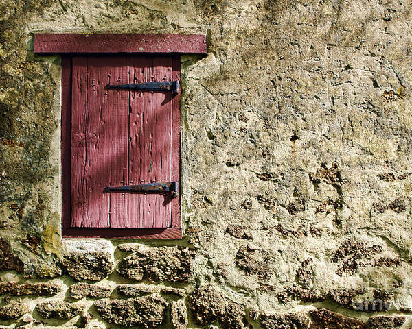 Wall Poster featuring the photograph Old Wall And Door by Olivier Le Queinec