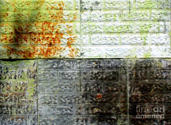 Abstract Poster featuring the glass art Older Days by France Laliberte