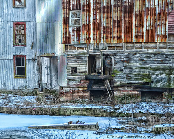 Feed Mill Poster featuring the photograph Oldmill by Tamera James
