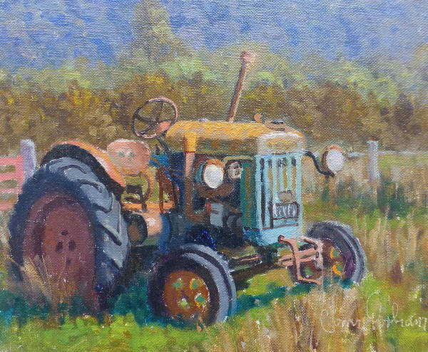 Landscape Poster featuring the painting On A Westland Farm by Terry Perham