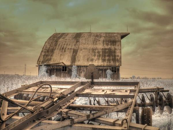 Barn Poster featuring the photograph On The Farm by Jane Linders