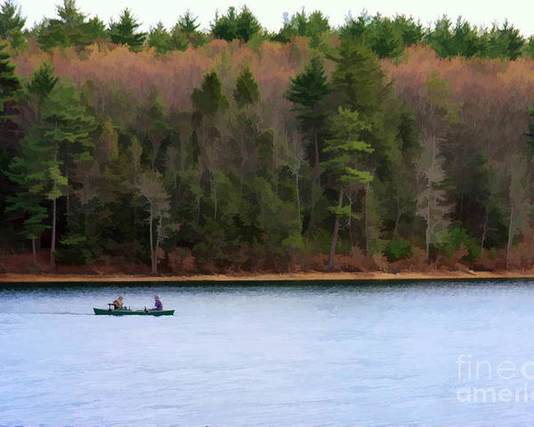 Walden Pond Poster featuring the photograph On Walden Pond by Jayne Carney