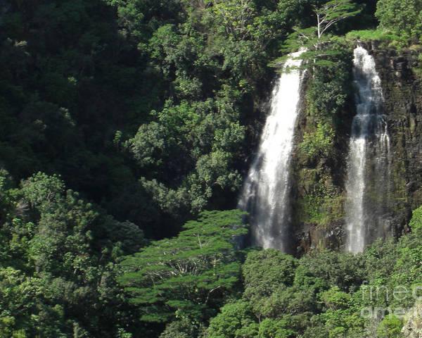 Kauai Poster featuring the photograph Opeaka'a Falls 2 by Deborah Smolinske