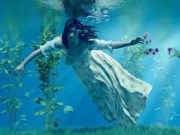 Ophelia Poster featuring the digital art Ophelia by Daniel Eskridge