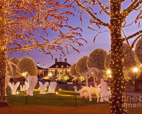 Christmas Poster featuring the photograph Opryland Hotel Christmas by Brian Jannsen