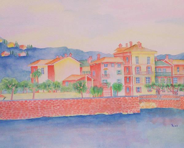 Italy Poster featuring the painting Orange Fisherman's Island by Rhonda Leonard