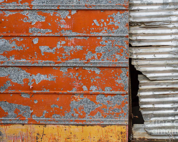 Texas Poster featuring the photograph Orange Paint by Ashley M Conger