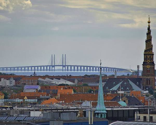 Copenhagen Poster featuring the photograph Oresund Bridge by Steven Richman