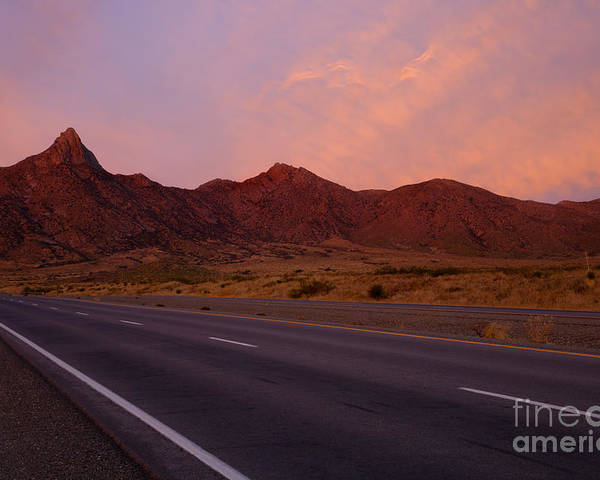 New Mexico Poster featuring the photograph Organ Mountain Sunrise Highway by Mike Dawson
