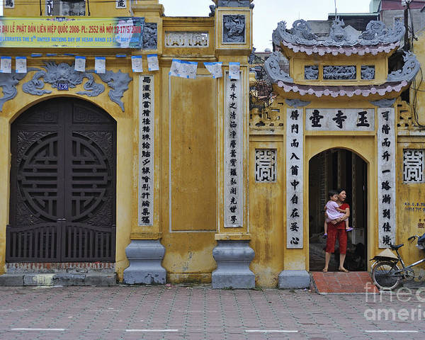 Vietnamese Poster featuring the photograph Ornate Buildings In The City Centre Of Hanoi by Sami Sarkis