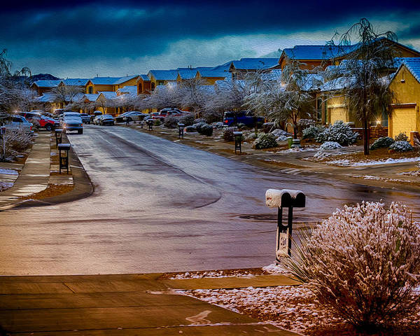 Myhaver Photography Poster featuring the photograph Oro Valley Winter No.54 by Mark Myhaver