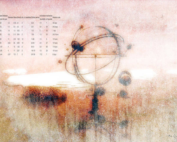 Orrery Poster featuring the digital art Orrery by Bob Orsillo