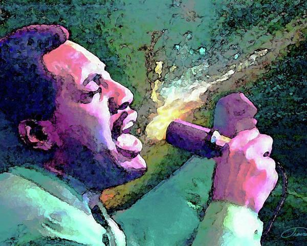 Otis Redding Poster featuring the painting Otis Redding by John Travisano