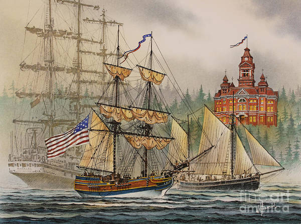 Seafaring Print Poster featuring the painting Our Seafaring Heritage by James Williamson